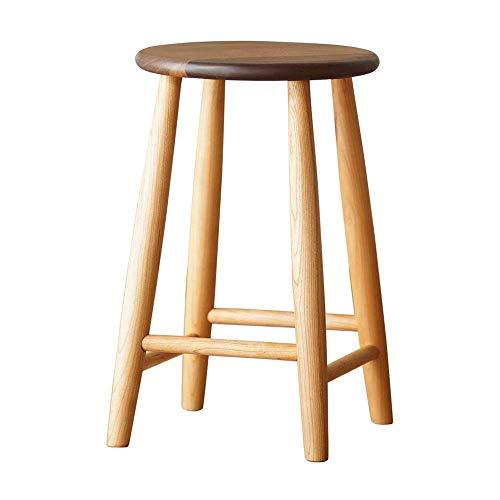 Mesa de cama, Taburete de vestidor de madera maciza, silla de la cómoda de dormitorio, madera de nuez negra, taburete de preparación de banco de maquillaje, taburete con patas de goma de madera Color: