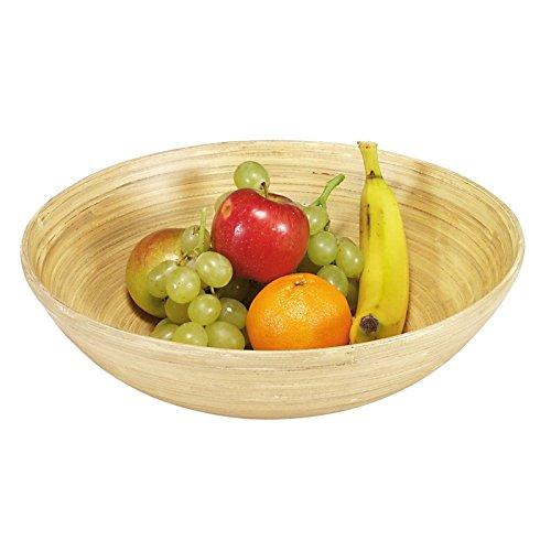 Kesper 63025 Frutas y Bandeja de Madera, bambú, tamaño: diámetro 25 cm, Altura: 8 cm