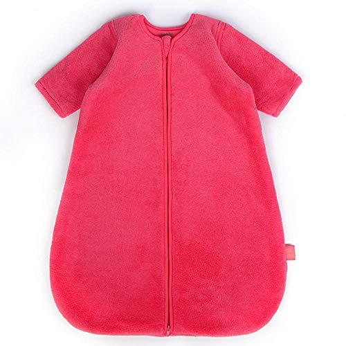 Unisex baby inbakerdekens, verwijderbare koraal fluwelen baby anti-kick quilt-watermeloen red_95cm18-36 maanden, pasgeboren baby dikke warme slaapzak