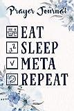 Prayer Journal Eat Sleep Detect Metal Detecting Detector Funny Gift Vintage Saying: Spiritual Planner, Christian Daily, Religius Books,For Women, Jesus Gifts, Something For Me