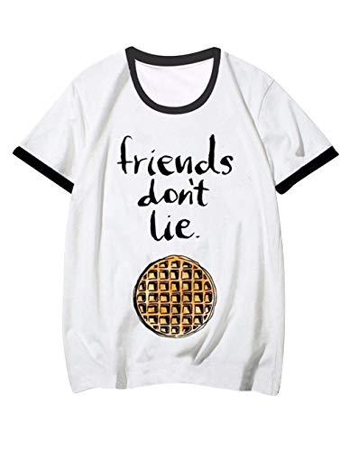 Camiseta Stranger Things Mujer, Ringer T Shirt Retro tee Cam