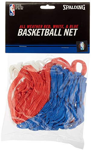 Spalding NBA NETZ (82-79SCNR) Red Tricolor, Unisex Adulto, Blanco/Azul/Rojo, NOSIZE