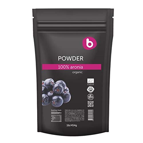 Bobica's PREMIUM European Organic Aronia Berry Powder | Chokeberry Powder | Antioxidant Superfood, High in Flavonoids, Polyphenols and Potassium, Immunity | 100% Organic, Gluten-Free, Raw | 1lb/454g |