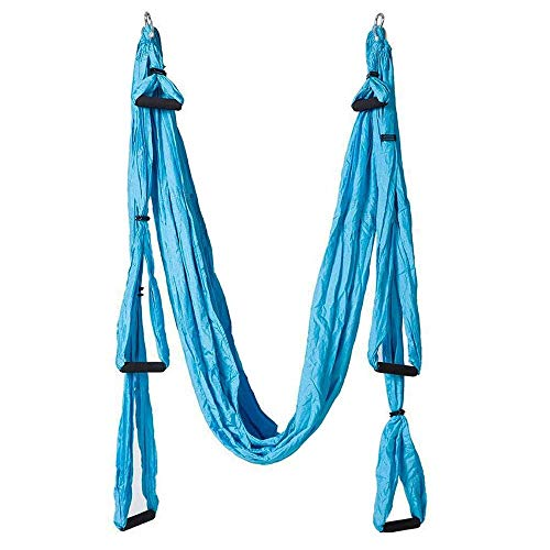 Pawaca Aerial Yoga Schaukel,Ultra Starke Yoga-Hängematte mit Fallschirmstoff und Griffen,Antennen-Trapez-Kit,großes Inversion Air Fly Sling Set,Hängematte/Trapez für drinnen und draußen mit Gesundheit