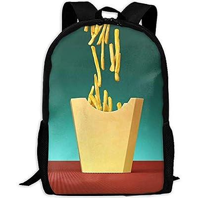 Sac à dos de voyage unisexe,sac à dos,sac d'école décontractée,sac à dos pour ordinateur universitaire,pommes de terre frites Un sac à dos de voyage unisexe,sac à dos,sac d'école décontractée,sac à do