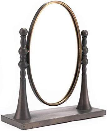 Ranking TOP20 HomeRoots Décor Black Gold Ranking TOP1 Circle with Mirror Stand Multicolor