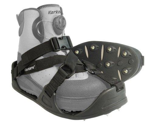 Korkers RockTrax - Cubrezapatos con tacos, tamaño mediano