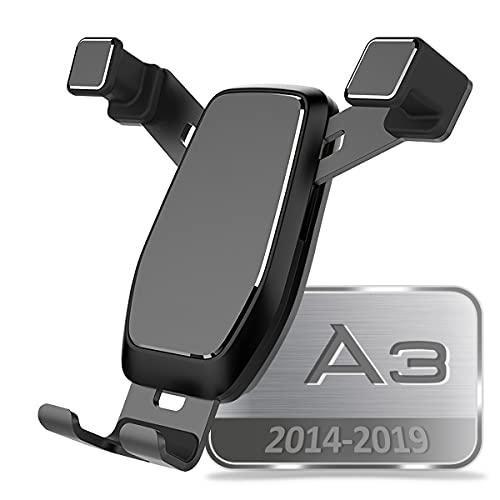 AYADA Handyhalterung Kompatibel mit Audi A3 8V, Handy Halter Upgrade Design Gravity Auto Lock Stabil S3 RS3 Sportback Hatchback 2013 2014 2015 2016 2017 2018 2019 Zubehör