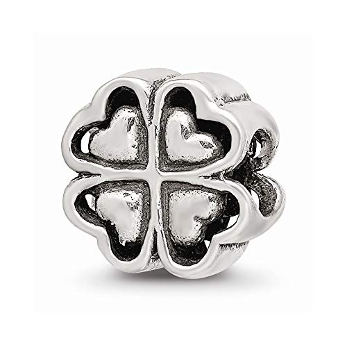 925 Sterling Silver Charm For Bracelet Four Leaf Heart Clover Bead Good Luck Floral Celtic Fine Jewelry For Women Gifts For Her