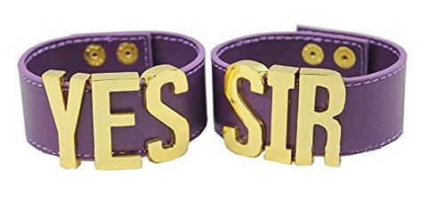 Tiny Time Damen Yes Sir Wristband Punk Rock Armband Purple Cosplay Bracelets