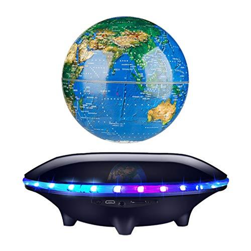 LeeMon Schwebender Lautsprecher Freischwebender Lautsprecher mit Bluetooth Mit Bluetooth-Lautsprecher FüR Desktop-BüRo-Ausgangsdekor-Kinder PäDagogisch (schwarz)