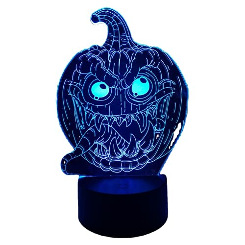 ausuky Halloween fiesta calabaza linterna táctil remoto decoración del hogar regalo lámpara LED mesa luz