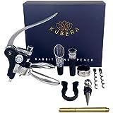 Wine Bottle Opener Corkscrew Set, KUBERA [2021 Upgraded] with Wine Accessories Gift Set | Foil...