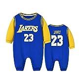 ZGRNB Sportfan Baby Basketball Trikot NBA Jumpsuit Creepers Los Angeles Lakers 23 Chicago Bulls 23 Strickjacke Strampler Höhe 59 cm-100 cm