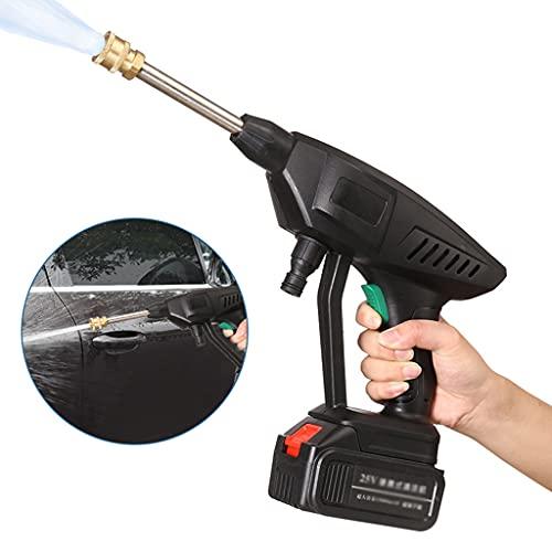 Limpiadoras a presión Lavadora a Presión Eléctrica, Limpiador de Energía Portátil, Mango Ae Ingeniería Ae Cabeza Humana, con Baterías y Cargador, para Lavar Coches/Cercas/Rev(Color:21v Battery x2)