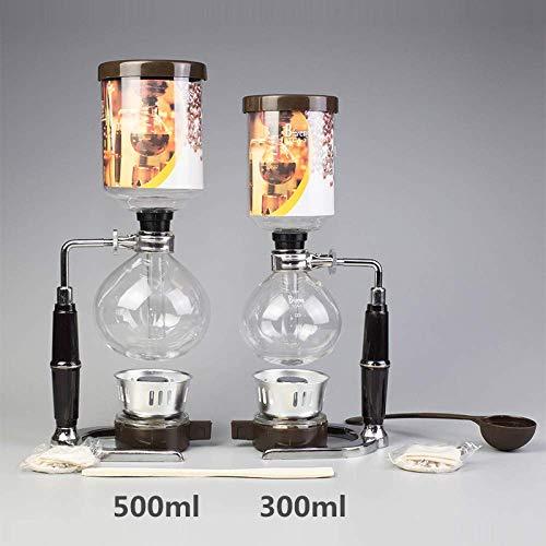 Nfudishpu Moka Kaffeekanne Kaffeemaschine 300ml 500ml Töpfe Filter japanische Art Tee Siphon Filter Kaffee Siphon Maschine, 500ml