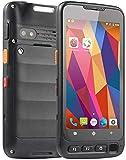 Escáner PDA, Scanner de código de barras de mano Android 7.0 OS con el escáner 2D ZEBRA SE 4710, pantalla táctil 5.0in, 4G WiFi Bluetooth GPS NFC Terminal móvil inalámbrico para el inventario, negro ,