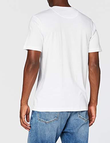 FM London Men's Plain T Shirt, White, L UK