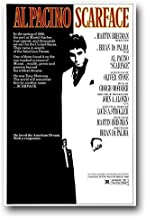Scarface Poster - Movie Promo Al Pacino - 12 x 18 inches BW Print Frameless Art Gift 30.5 x 46 cm