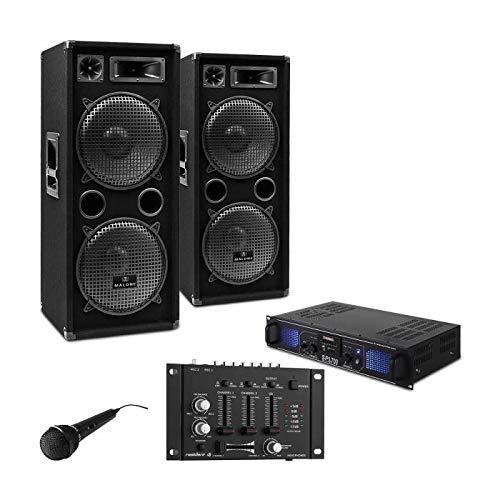 DJ-27 Sistema sonido 2000W Amplificador PA Altavoces
