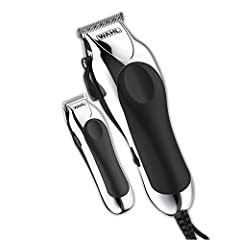 HIGH QUALITY HOME HAIRCUTS: A complete kit for home hair cutting & trimming, the Wahl Deluxe Chrome Pro includes a quality clipper & guide combs, cordless touch-up trimmer, styling shear, and everything you need to achieve the precise style you want ...