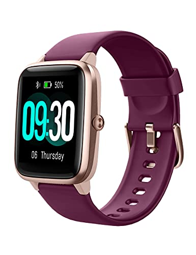 Willful Smart Watch for Android Phones and iOS Phones Compatible iPhone Samsung, IP68 Swimming Waterproof Smartwatch Fitness Tracker Fitness Watch Heart Rate Monitor Watches for Women (Dark Purple)