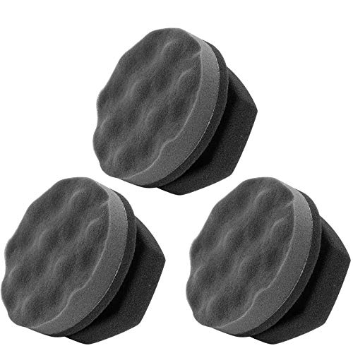 N   A 3 Pack Tire Dressing Applicator Pad, Tire Shine Applicator, Tire Cleaner Sponge, Reusable Washable Tire Brush for Tire Detailing, Waxing