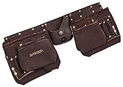 Am-Tech Ceinture à outils en cuir ultra résistant 12 poches