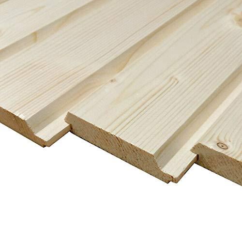Profilholz 20x90mm Fichte Profilbretter Brett Holz Holzbretter Profilbrett Fassadenprofil (20, 150)