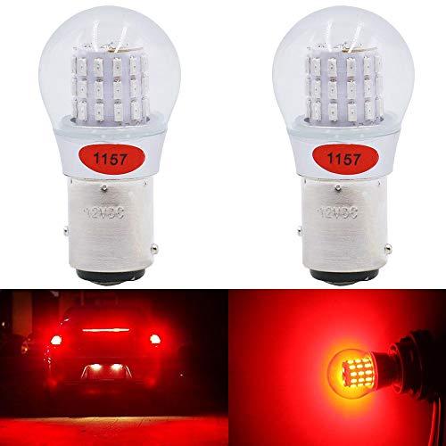 2- Stück Rot Super Hell 1157 1034 7528 2057 2357 Glühbirne Anpassbar an 12-15V DC - Für Bremslicht