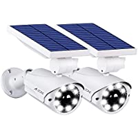 2-Pack A-ZONE L10 Solar Motion Outdoor Sensor Light (White)