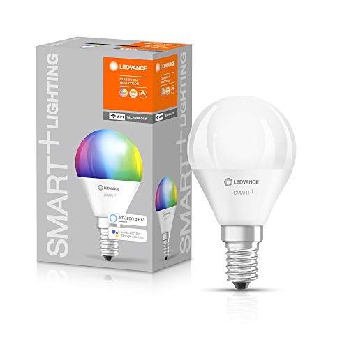 LEDVANCE Ampoule LED | E14 | RGBW | 2700…6500 K | 5W équivalent à 40W | dépolie | SMART+ WiFi Mini Bulb Multicolour