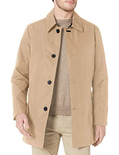 Cole Haan Signature Men's 2-in-1 Car Coat with Removable Lining, tan, Medium