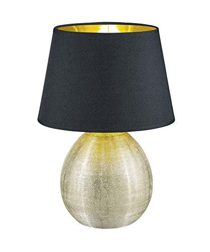 Reality Leuchten R50631079 Luxor, Tischleuchte, Keramik, E27, Gold, 24 x 24 x 35 cm