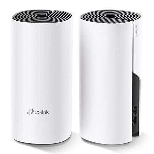 TP-Link Deco M4 Systèmes Mesh WiFi (remplacement de routeur ou amplificateur wifi) - Couverture WiFi jusqu'à 260m2 - Compatible avec Amazon Alexa et IFTTT - Contrôle Parental