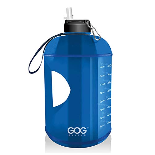 Delisouls Botella de agua con marcador de tiempo y pajita, jarra de agua motivacional sin BPA, a prueba de fugas, grandes botellas de agua con asa