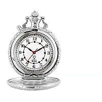 発光 LED フラッシュ ネックレス アワー ヴィンテージ クロック 夜光懐中時計 (2)