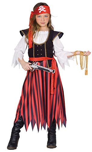 Piratessa costume bambina (Taglia 10-12 anni)