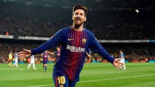 Bucraft Lionel Messi Happy for The Goal - Cuadro de 20 x 10 cm