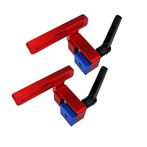 2 Stücke T-Nut Führungsschiene Stop für T-Nut T-Track Holzbearbeitung Manuelle Werkzeuge