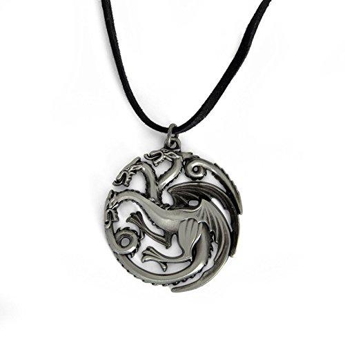 Game of Thrones - Catenina della Casa Targaryen - Ciondolo con Lo Stemma della casa - Confezione in Blister
