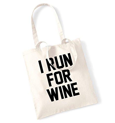 I run for wine tote bag