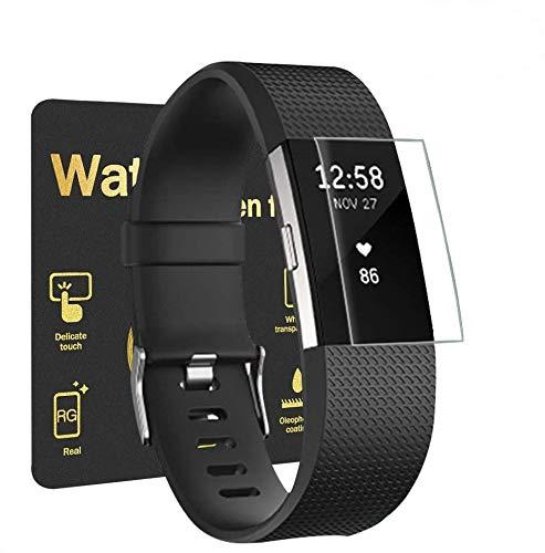 Aottom 6 Pezzi Pellicola Protettiva per Fitbit Charge 2 Protezione Pellicola Vetro Temperato Soft Slim TPU Gel Silicone Copertura Pellicola Protettiva per Fitbit Charge 2 Fitness Tracker, Chiaro