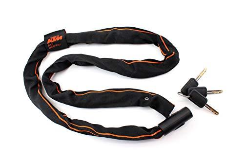 KTM Fahrradschloss Kettenschloss schwarz/orange 1200 mm Länge