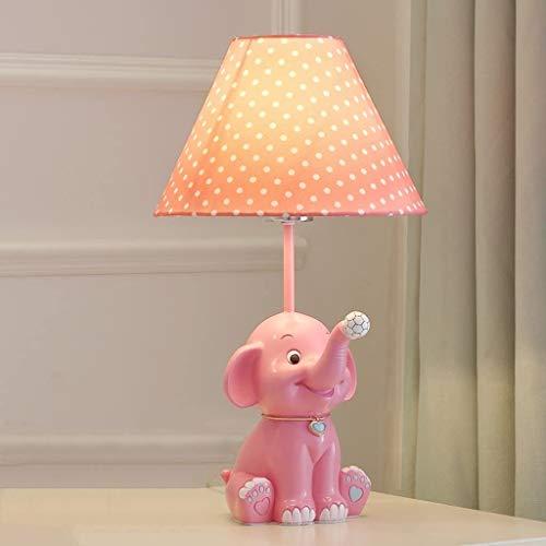 Jiangpengg Tafellamp voor kinderkamer, eenvoudige tafellamp in de vorm van een olifant van kunsthars, decoratieve lamp voor nachtkastje, bedlampje voor slaapkamer voor meisjes