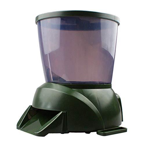 DONTHINKSO Automatische grote capaciteit voeden apparaat regelmatig. Fish voedsel opslag dispenser.fish tank feeder voor tuin vijver
