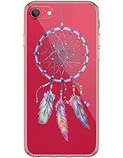 Carcasa de silicona Kinnter compatible con iPhone SE (2020), resistente al agua, transparente, ultrafina, TPU, antigolpes, diseño original para iPhone SE (2020)