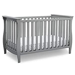 Delta Children Lancaster 3-in-1 Convertible Baby Crib, Grey