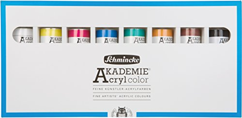 Schmincke AKADEMIE Acryl color Karton-Set 8x60ml Tuben