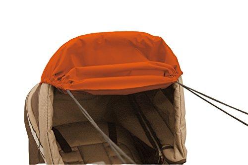Asmi variable Sonnenmarkise Sonnensegel SunFun mit hohem UV Schutz (UPF 156) für alle Kinderwagen (Orange)